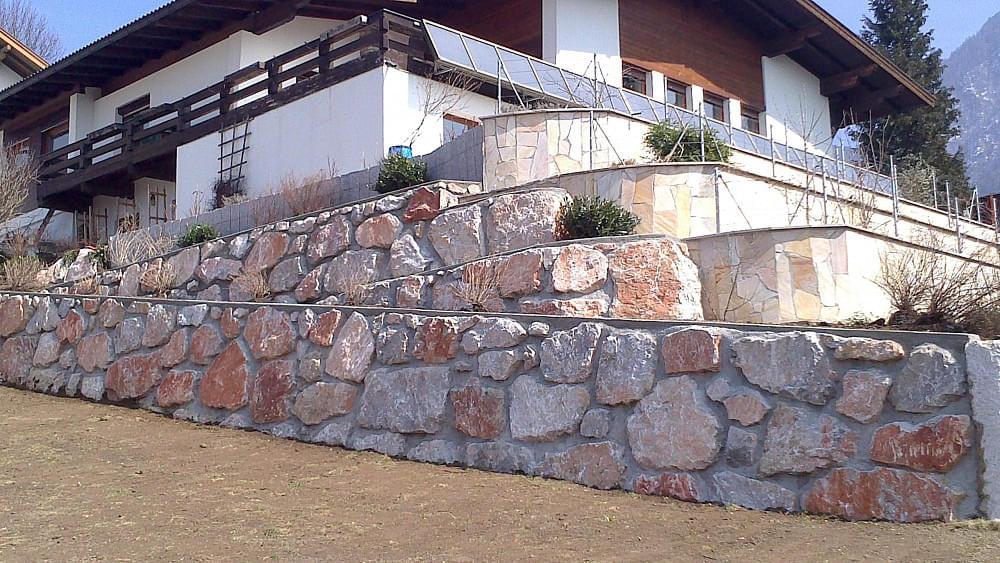 steinmauer in bad häring, Hause ideen